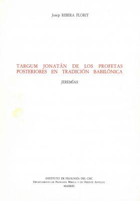 Targum Jonatán de los Profetas Posteriores en tradición babilónica: Jeremías