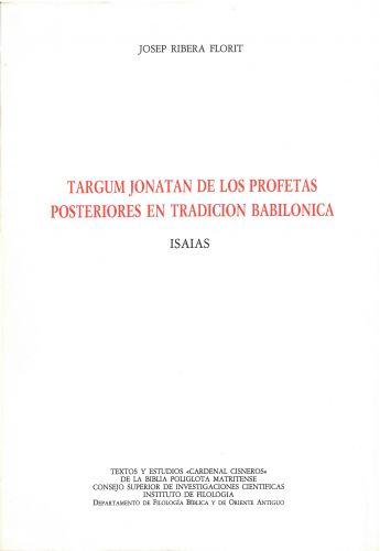 Targum Jonatán de los Profetas Posteriores en tradición babilónica: Isaías